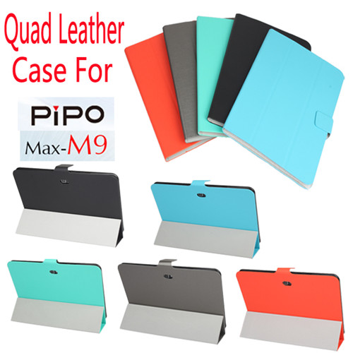 Ultra Thin Soft Waterproof Quad Leather Case Cover for PIPO M9 5 Colors