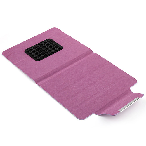 "Ultra Thin 8.5"" Soft Silicone Sucker Leather Cover Case Five Colors"