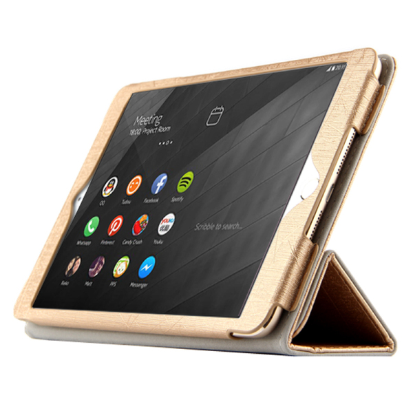 Fashion PU Leather Flip Stand Cases 7.9 Inch Leather Caes for NOKIA N1 Tablet Golden