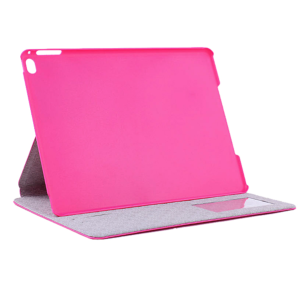 Protective Flip Stand PU Leather Case for 9.7 Inch Ipad air 2 Tablet PC Rose