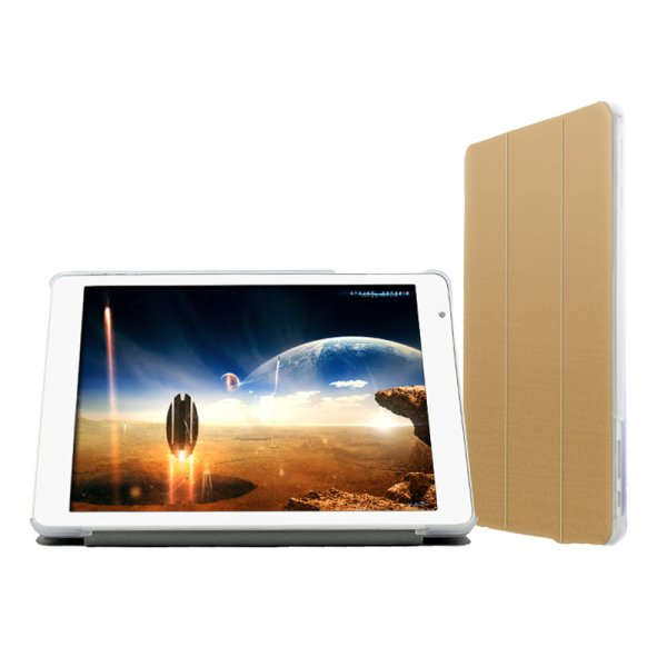 "Removable Ultra-Thin PU Leather Case for 9.7"" Teclast X98 Air II/X98 Air 3G Golden"