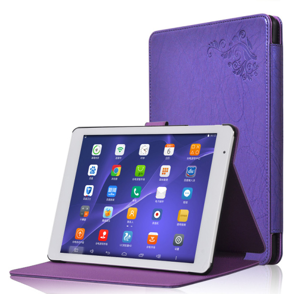 Protective Flip PU leather Case for Teclast X98 P98 3G/X98 AIR 3G/X98 AIR 3G II Purple