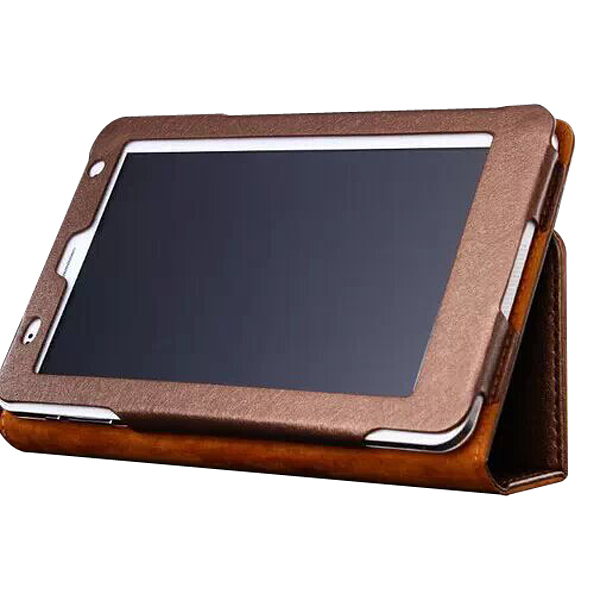 Protective Flip Stand PU Leather Cover Case for Ramos i7s Tablet PC Golden