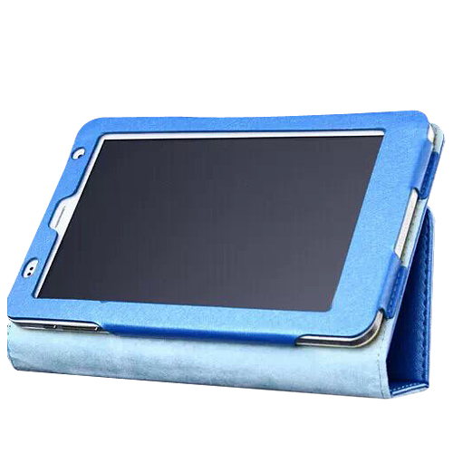 Protective Flip Stand PU Leather Cover Case for Ramos i7s Tablet PC Blue