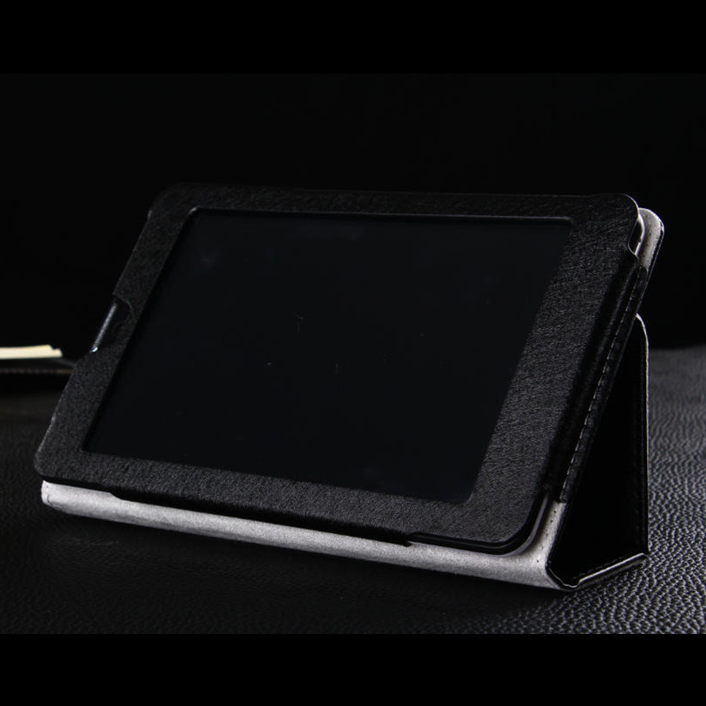Protective Flip Stand PU Leather Cover Case for Colorfly E708 PRO 3G Tablet PC Black