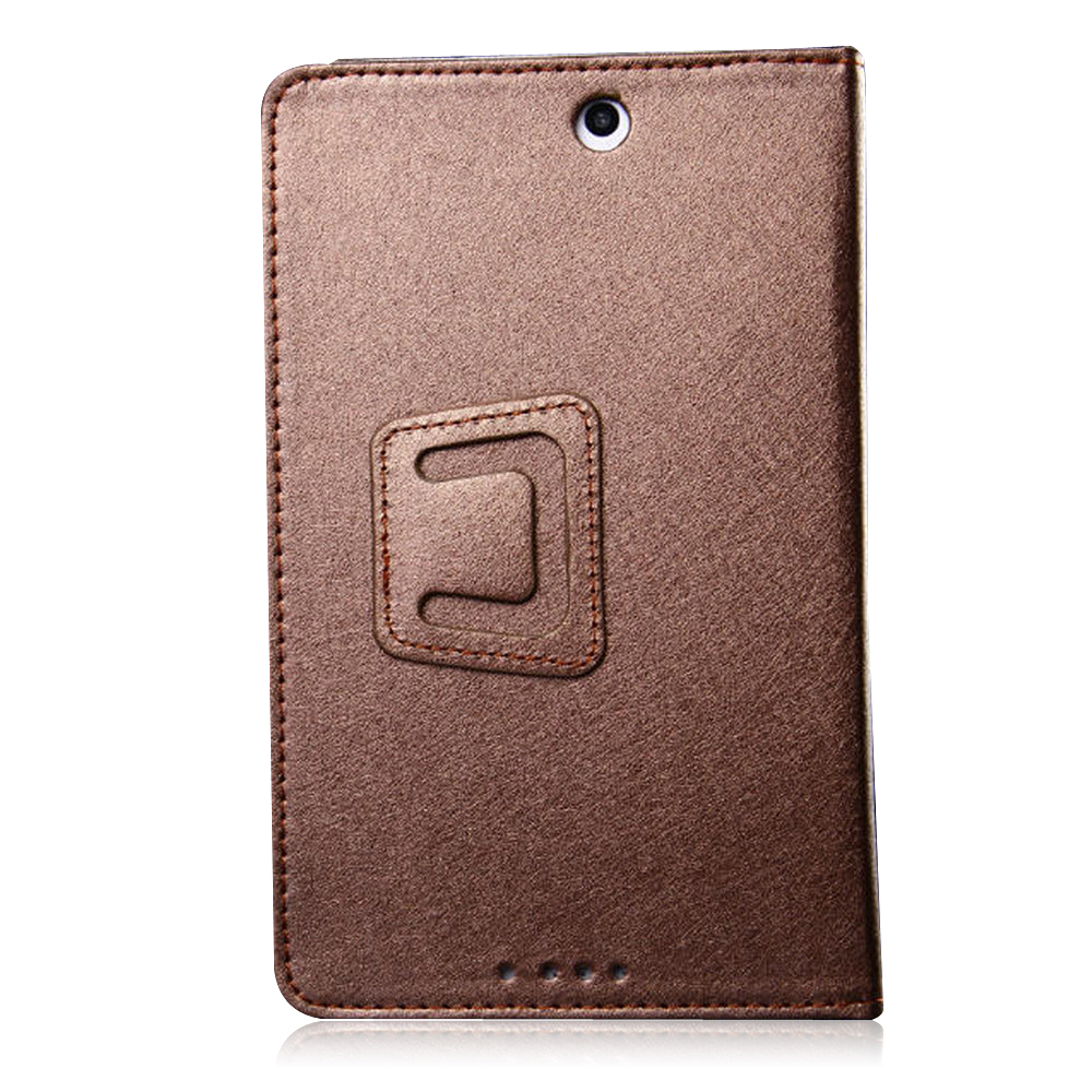 Protective Flip Stand PU Leather Cover Case for Colorfly E708 PRO 3G Tablet PC Golden