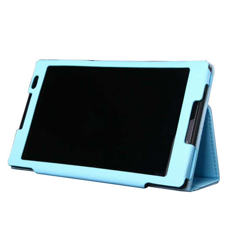 Protective Flip Stand PU Leather Case for Lenvo S8-50 Tablet PC Blue