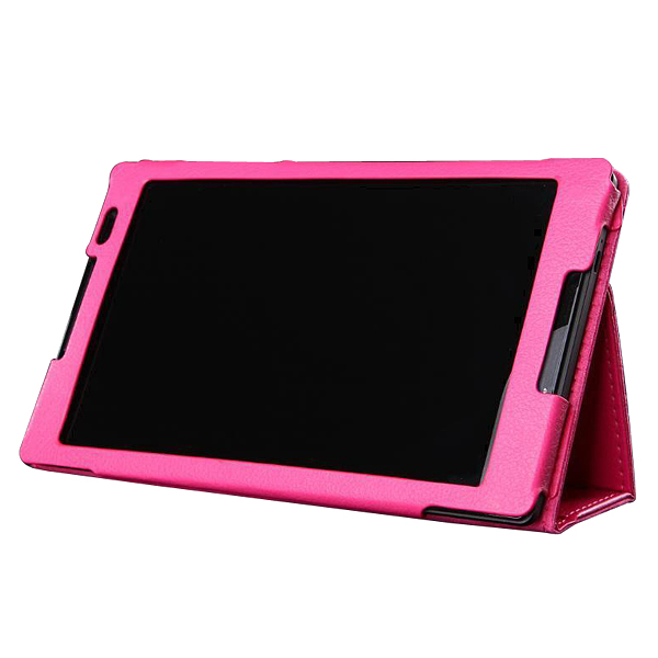 Protective Flip Stand PU Leather Case for Lenvo S8-50 Tablet PC Rose