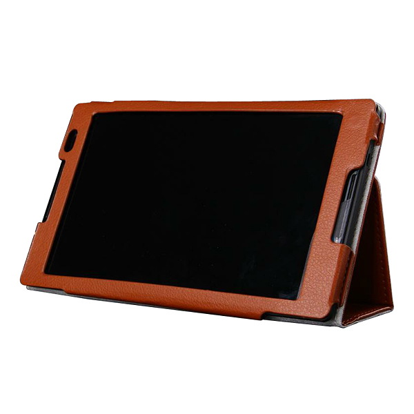 Protective Flip Stand PU Leather Case for Lenvo S8-50 Tablet PC Black