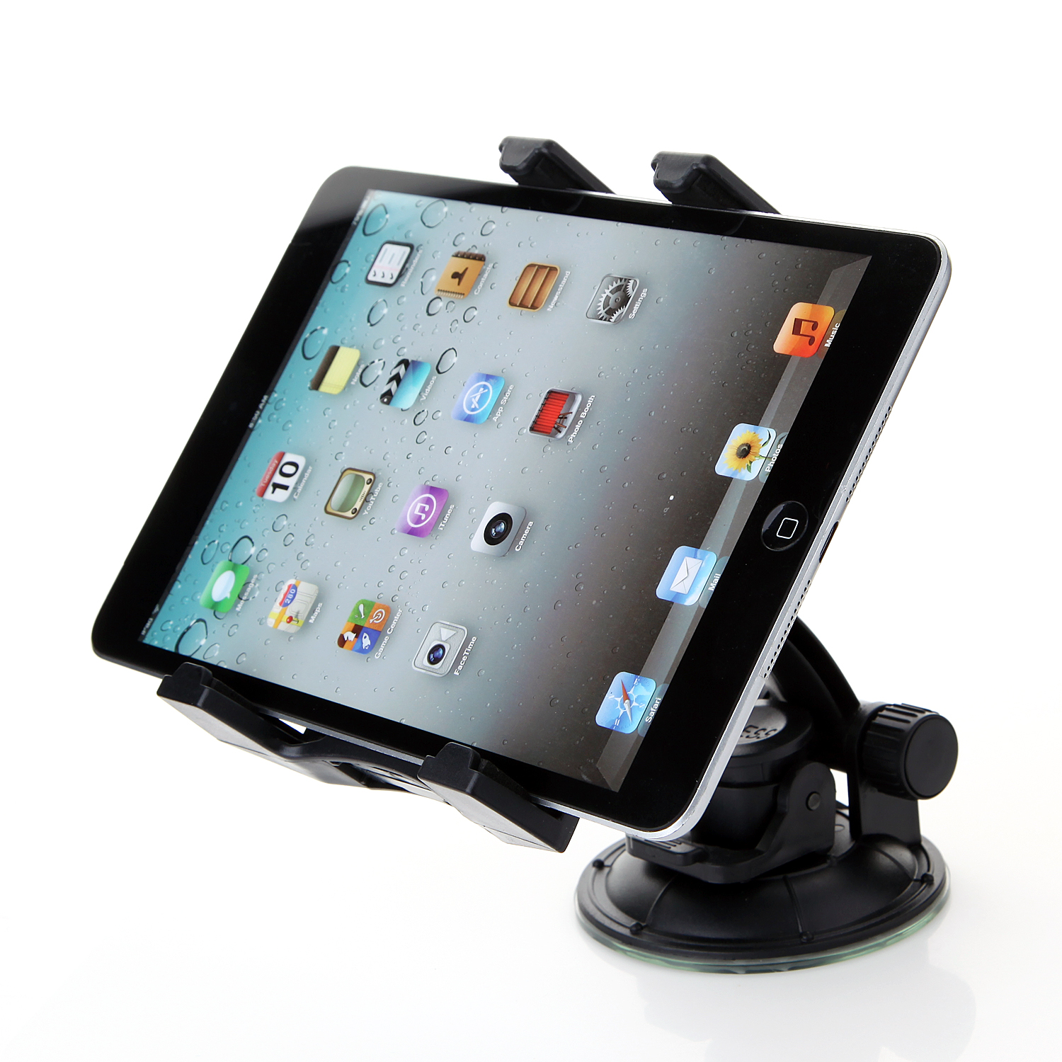360degree Rotation Stand Holder with Suction Cup for 4-11in Tablet PC Black