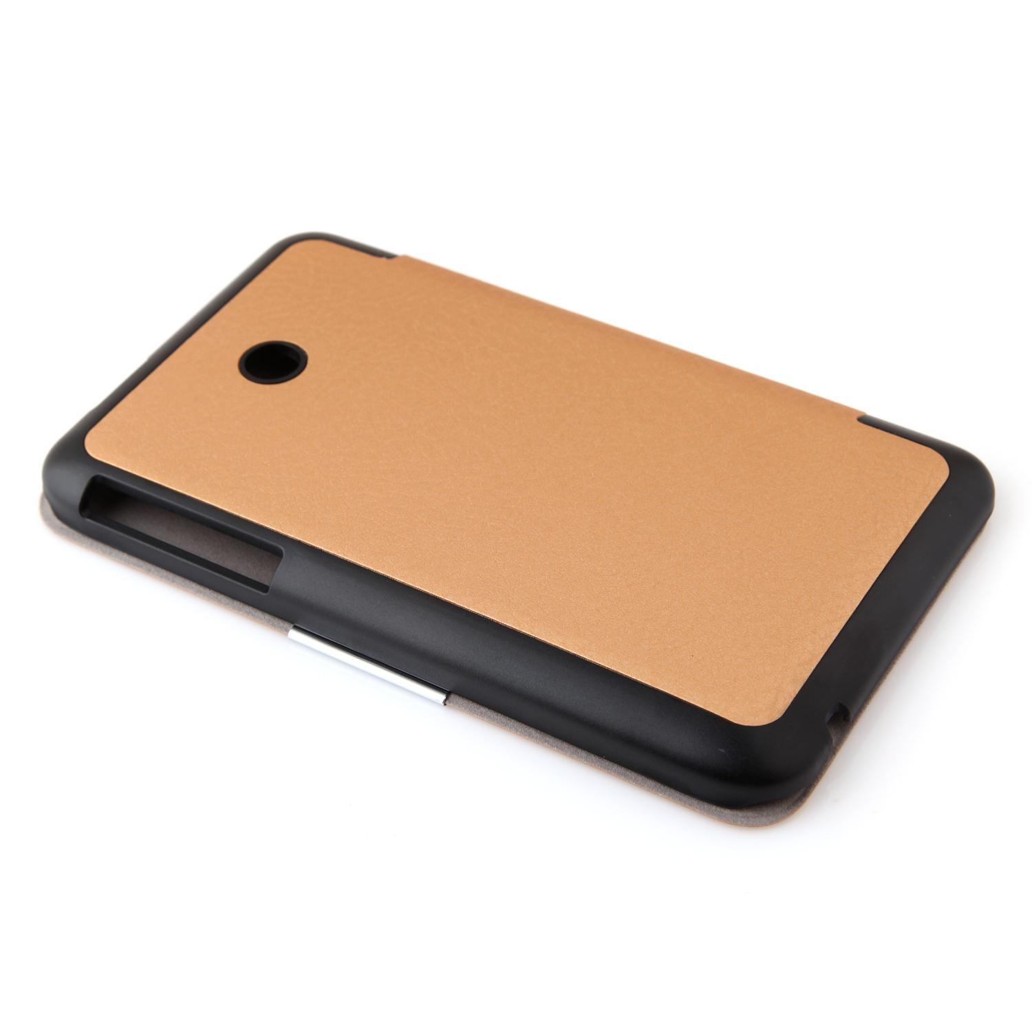 Protective PU Leather Stand Case Cover for Lenovo A3500 Tablet PC KP-69D Golden