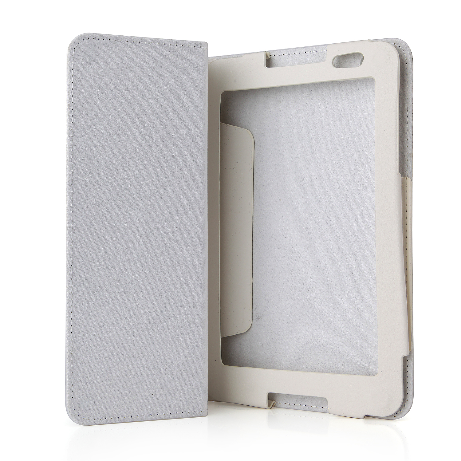 Protective PU Leather Stand Case Cover for Lenovo A5500 Tablet PC White