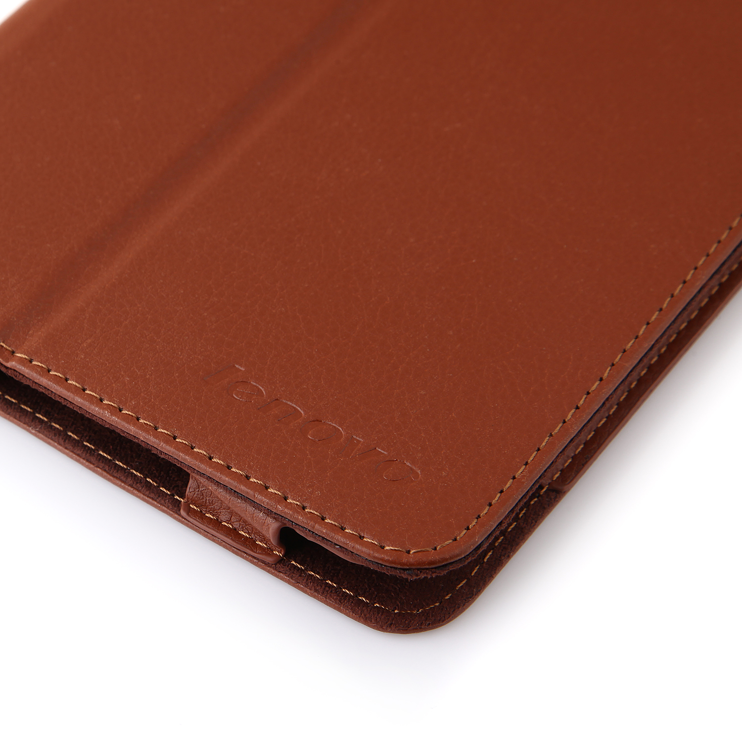 Protective PU Leather Stand Case Cover for Lenovo A5500 Tablet PC Brown