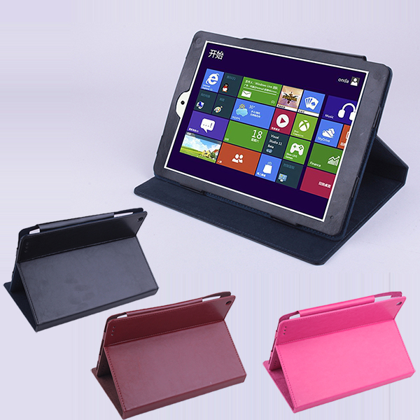 Protective PU Leather Flip Case for ONDA V975W V989 Tablet Black