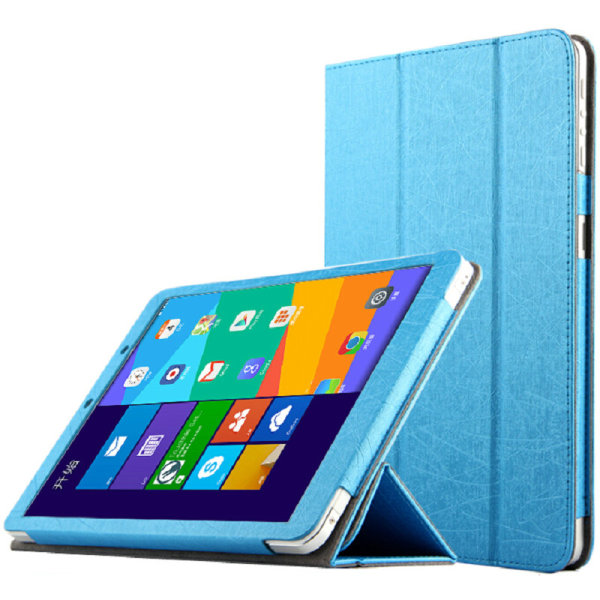 Protective Three Folds Flip PU leather Case Cover for Window M9i Blue