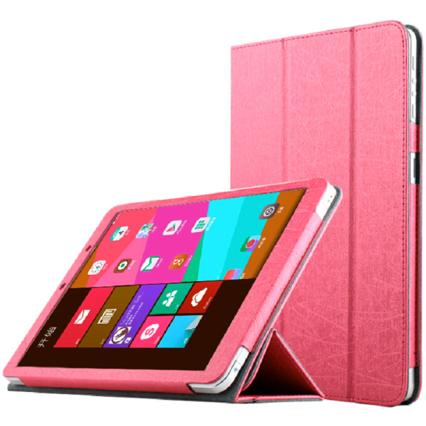 Protective Three Folds Flip PU leather Case Cover for Window M9i Pink