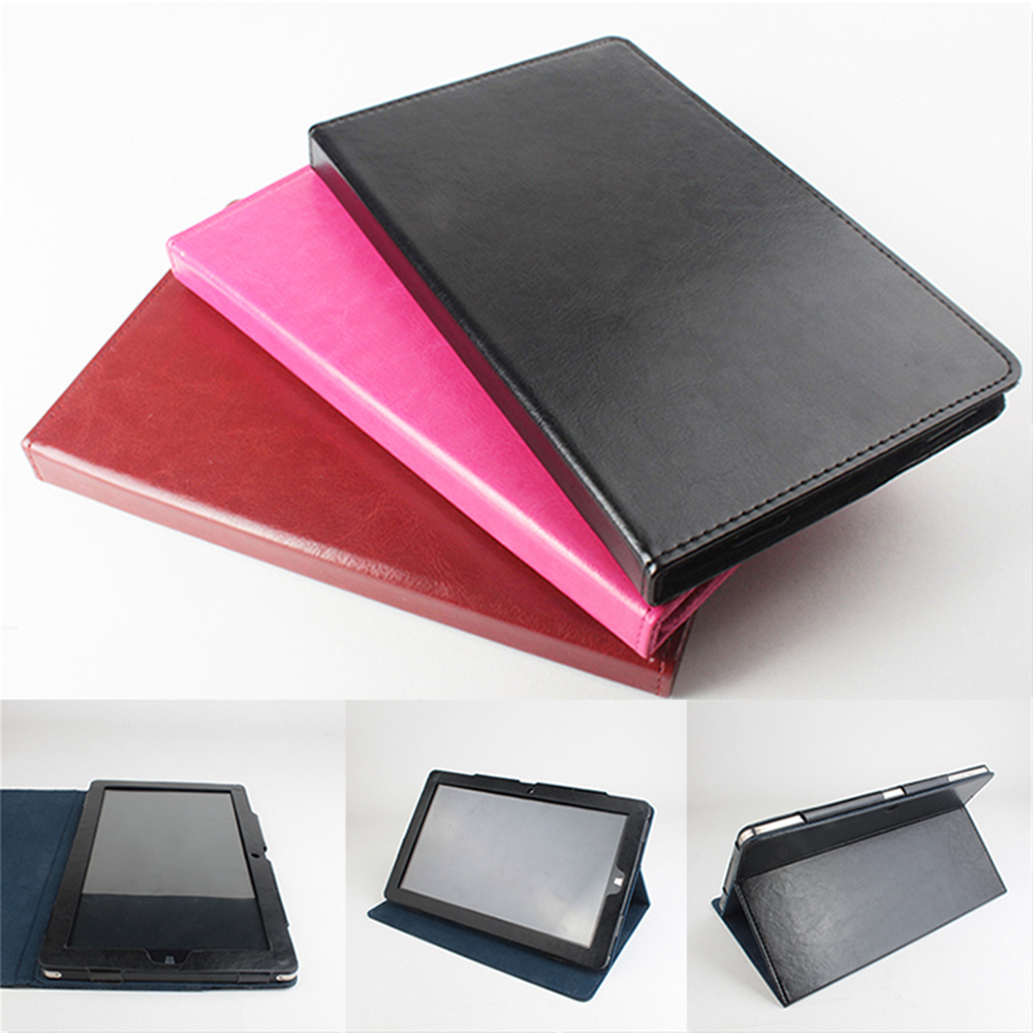 Leather Protective Cover with Stand Function for CHUWI Vi10 Tablet PC  Red