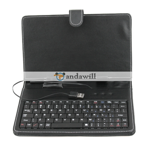 Keyboard+Stylus+Case for 7 Inch Tablet PC Black