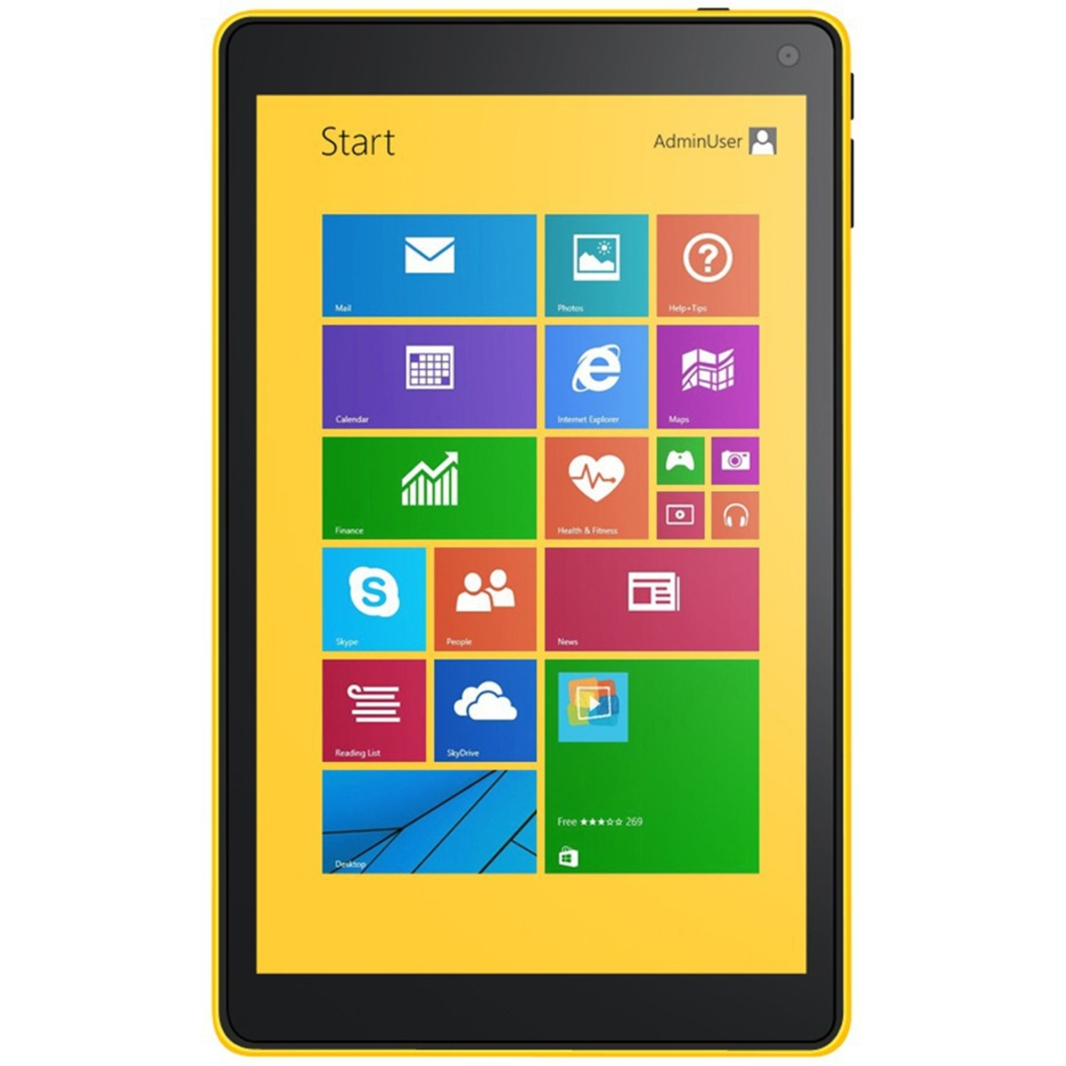 VOYO A1 Mini Tablet PC Dual Boot Intel Z3735F 8.0 Inch IPS Screen 2GB 32G Yellow