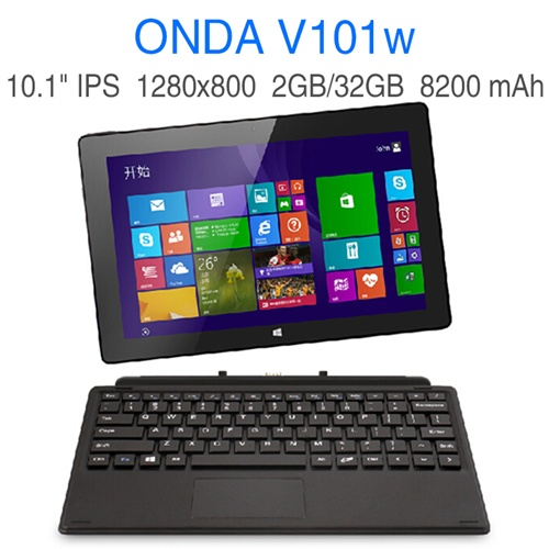 Onda V101w Tablet PC Intel Z3735 Quad Core 10.1 Inch Windows 8.1 HD IPS 2GB 32GB