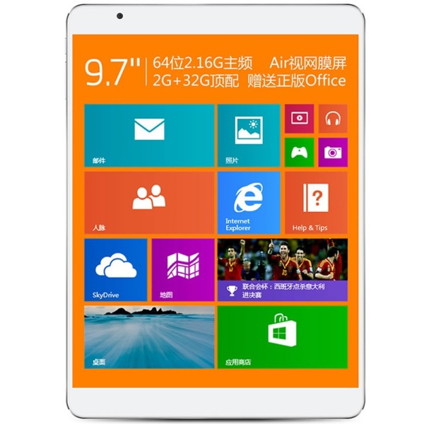 "Teclast X98 Air II Tablet PC Windows 8.1 Intel Z3736F Quad core 9.7"" Retina 2GB 32GB"