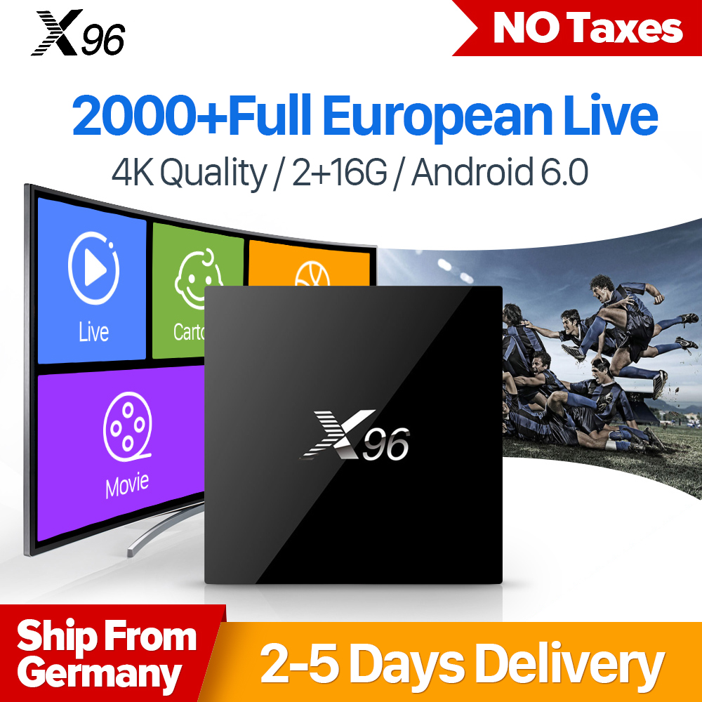 X96 Android TV Box With IUDTV 1 Year IPTV Account Full European African Netherlands USA IPTV Channels 2G 16G Smart TV Box