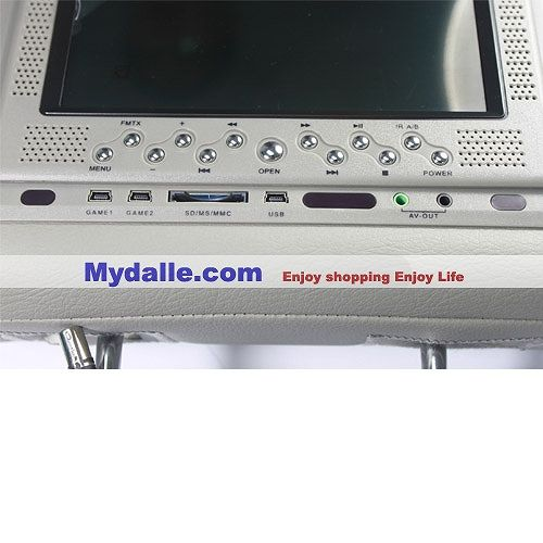 7 inch automobile headrest DVD Player support MPEG4 Format