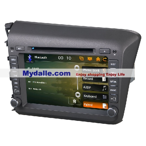 8 inch Car autoradio gps navigation system player Special Car dvd for Honda Civic 2012