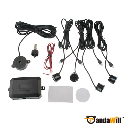 Car Parking Reverse Backup Rear Radar 4 Sensor System discount