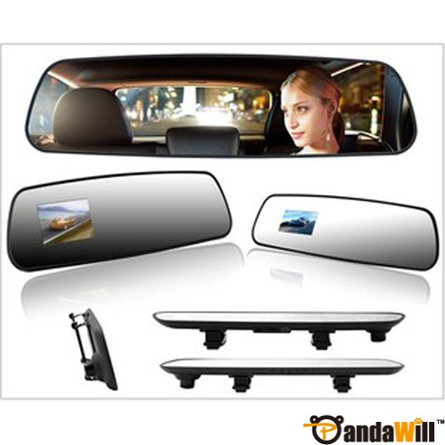 "R02 Super Slim 2.7"" TFT HD Car Camera DVR Car Black Box Rearview Mirror Oblong Fast shipping"