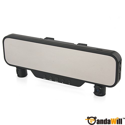 "3.5"" TFT Dual Camera HD Car Vehicle Blackbox Rearview Mirror DVR SD Card Slot TV Out hot deal"