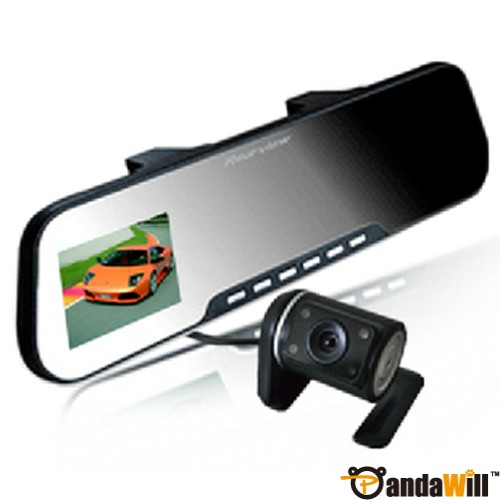 "X888AV 2.7"" TFT HD Dual Lens Rearview Mirror Car Camera DVR hot deal"