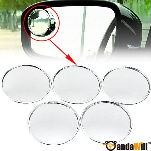 5pcs Auxiliary Round Mirror for Car Rearview Mirror  Silver out let