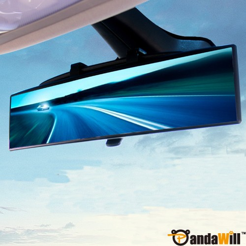 11.8 Inch Curved Surface Panoramic Rearview Clip-On Mirror Blue Mirror wholesale
