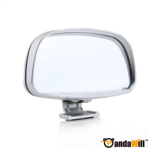 Convex Wide Angle Adjustable Car Blind Spot Mirror Silver Fast shipping