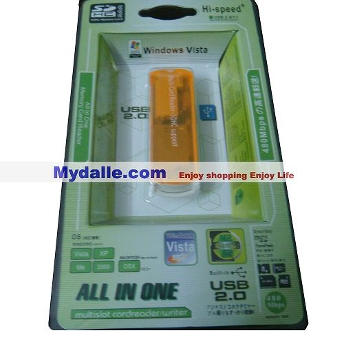 All in one Hi-speed+  USB 2.0 multislot cardreader /writer
