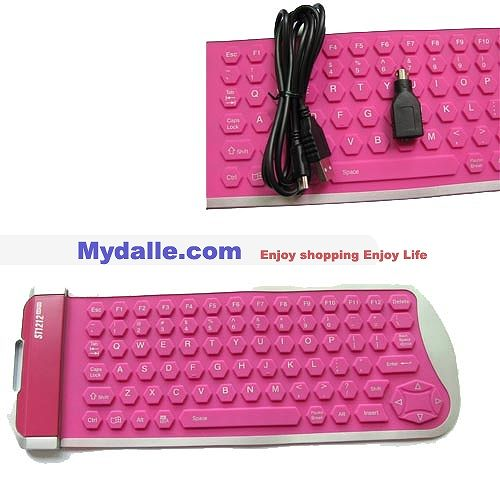79keys Flexible keyboard silicone keyboard washable foldable  usb ps2 keyboard