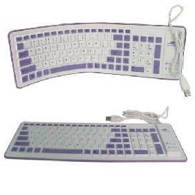 103 keys two color flexible keyboard