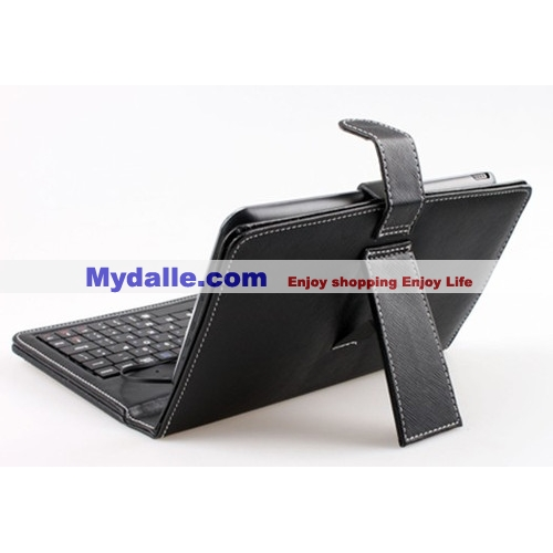7 inch USB Leather Case with Keyboard for APad, ePad, android MID Tablet PC