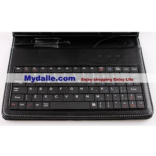 10.1 inch USB Leather Case with Keyboard for APad, ePad, android MID Tablet PC