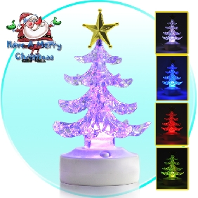 USB Color Changing LED Christmas Tree Ornament with Speaker