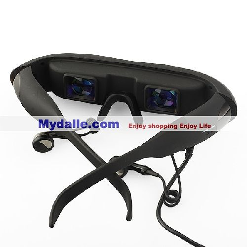 Digital Video Glasses - Dual Channel Stereo - 4:3 Video Aspect Ratio - 35-degree Diagonal View Angle
