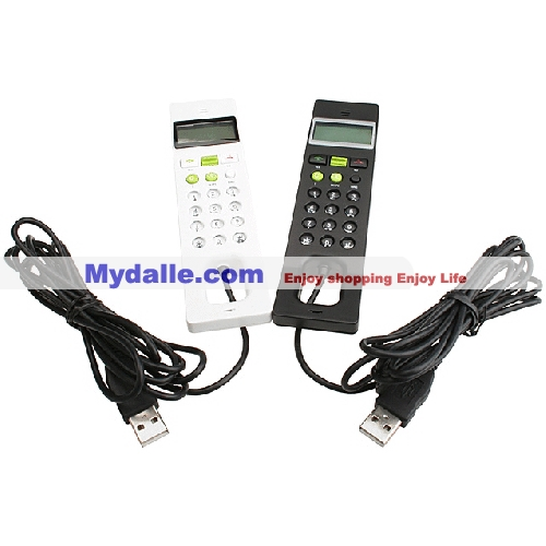 USB Skype phone with LCD dot matrix display