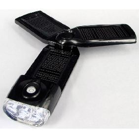 Solar-powered LED Electric Torch - Built-in Charger