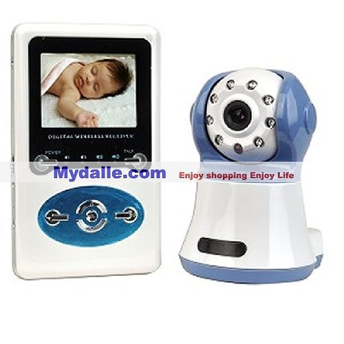 2.4GHz Wireless Baby Monitor Color Camera Kit w/Pan & Tilt Infrared Night Vision Camera & Handheld M - W386D1