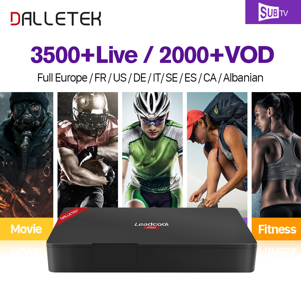 The Newest Leadcool PRO TV Box Android 6.0 Amlogic S905X Quad Core 2GB & 16 GB With One Year Globle SUBTV IPTV Subscription FULL HD French EX-YU Latin Canadian Channels Smart TV BOX