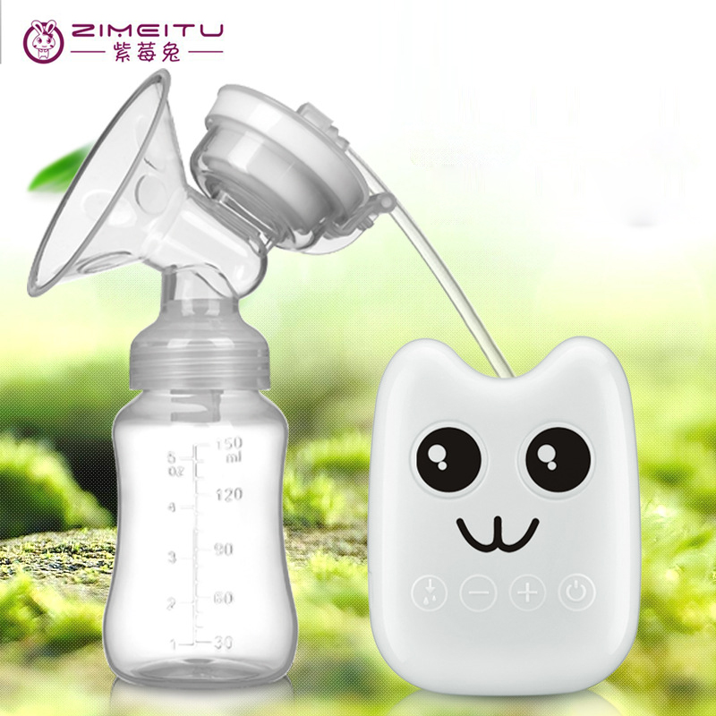 Electric Double Breast Pump BPA Free Nipple Suction Breast Pump Feeding with Milk Bottle For Baby USB Electric Breast Pump