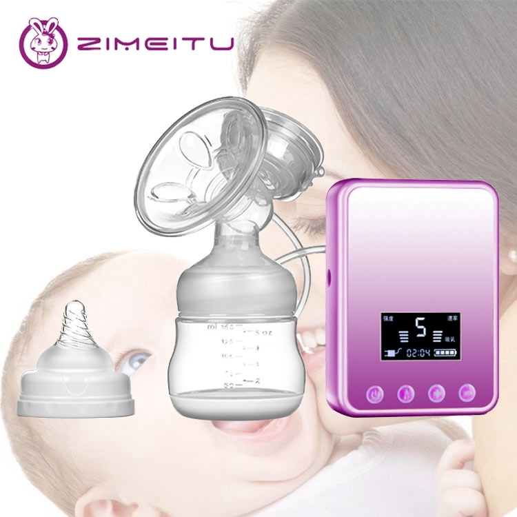 Baby Breast Pump Electric LED Screen Breast Milk Extractor Electric Safe Silicone Nipple Pump Baby Bottle Pump Out Milk