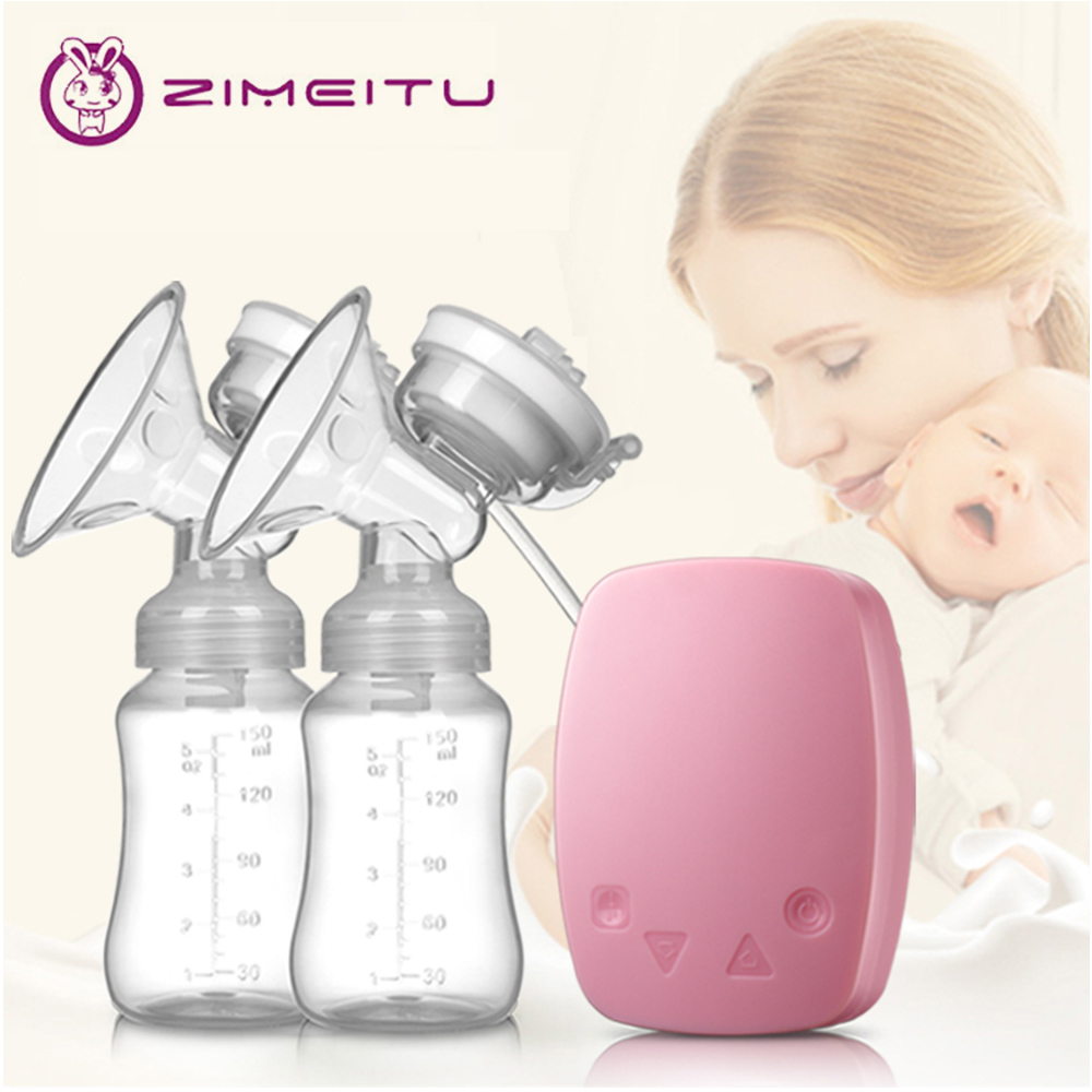 Baby Breast Pump Electric Silicone Milk Extractor Large Suction Double Electric Breast Pump Feeding Bottles Electric Milk Pump
