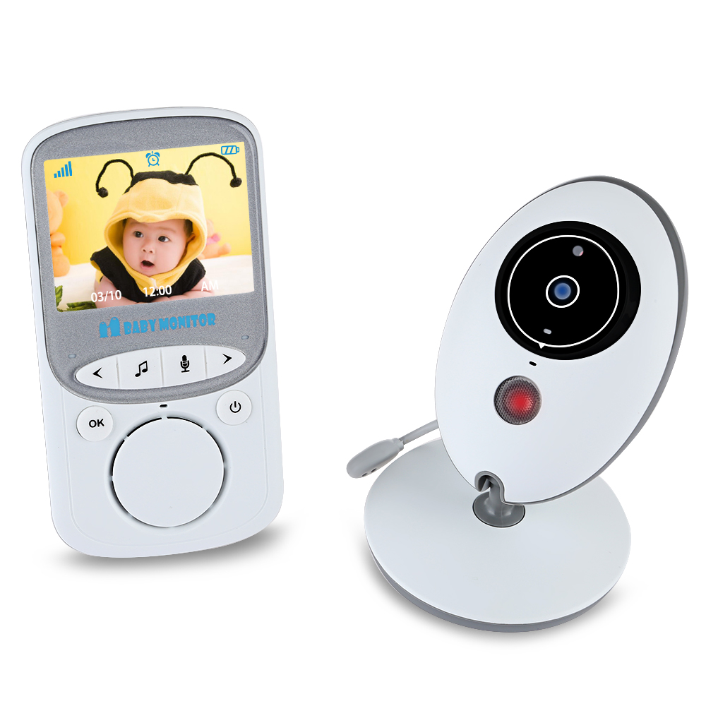 Baby Monitor VB605 2.4GHZ Wirless 2 Way Talk 2.4''LCD Digital Baby Camera 24h Babysitter Audio IR Temperature Portable Monitor